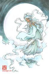 Yue Moon Goddess from Avatar by aimeekitty