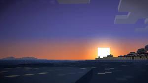 Block Sunset by F4celessArt