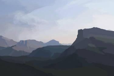Mountain View Speedpaint by MarshmallowGherkin