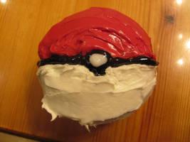 Pokeball Cupcake by Greenpaint21