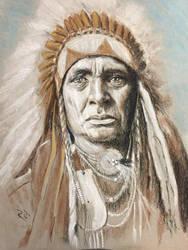 Chief pastel  by Rjrazar1