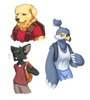 some furries by Wolframclaws