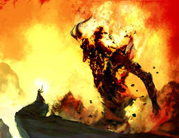 Fire-elemental by Odinoir