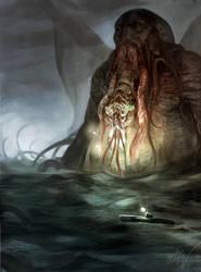 Cthulhu Rises by Odinoir