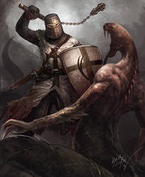 Teutonic Knight by Odinoir