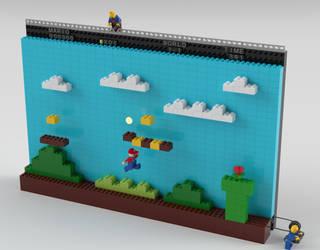 Lego Mario: Behind the scenes by NaityDhimDarell