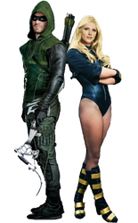 Green Arrow and Black Canary by Gasa979