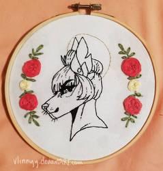 Fursona Bust Embroidery by Vlinnyy