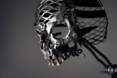 Scrap Metal Skull - 1 by Devin-Francisco
