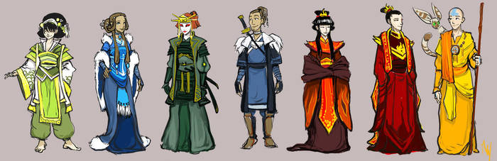 Older Gaang formal outfits by ming85