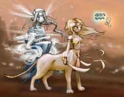 Zodiak: Leo and Aquarius by ming85