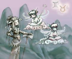 Zodiak: Taurus and Gemini by ming85
