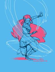 Waterbending doodle by ming85