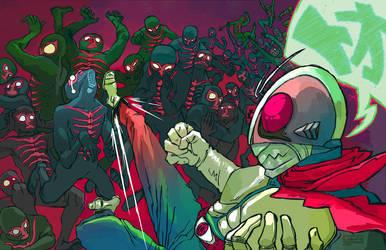Kamen Rider 1 by BonsaiMechaGirl