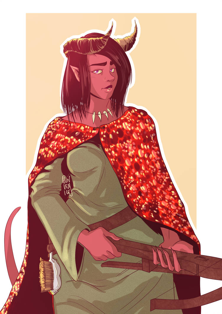 Patreon Reward - Tiefling Mage Sorcerer by SunVenice