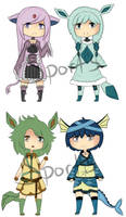 Eeveelution Adopts - ONE LEFT - $1 by Sports3388