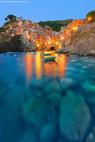 Lights at Riomaggiore by SimonePomata