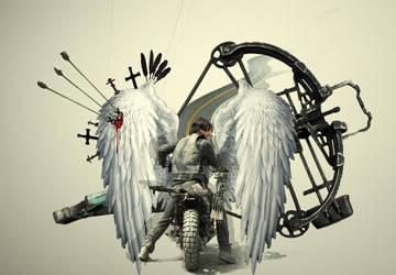 The Walking Dead Daryl Dixon by eZeeD