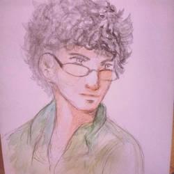 Watercolor painting by Menami