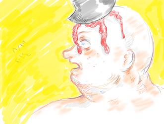 Ax in the head by Menami