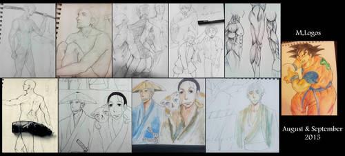 Random sketches 2 by Menami