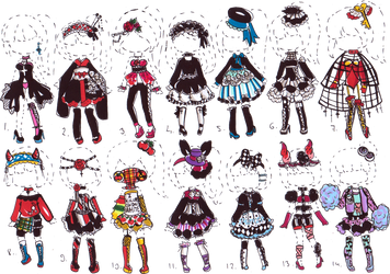 -CLOSED- Goth OUTFIT ADOPTS by Guppie-Vibes