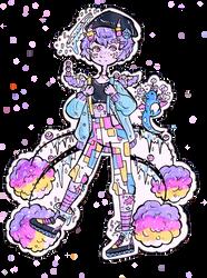 CLOSED-DTA Nunuke-Pastel Sprinkle Dragon by Guppie-Vibes