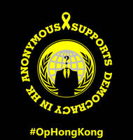 ANONYMOUS SUPPORTS, DEMOCRACY IN HK. #OpHongKong by maggiemgill