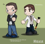House MD - Chibi HouseWilson by bananacosmicgirl