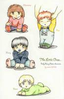 Baby Harry Potter characters by bananacosmicgirl