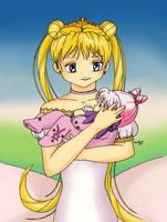 Serenity and baby Rini by bananacosmicgirl