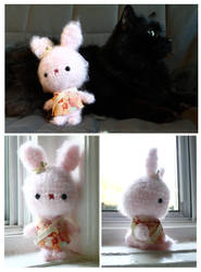 Fluffy Bunny Amigurumi by psycho-kitty