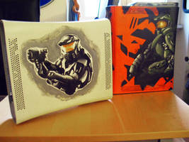 Halo fan made Xboxes by EnergizerII