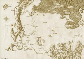 Alagaesia map by firetongue8