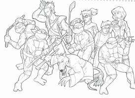 Turtles Group Sketch1P8 by pedlag
