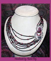 Fuschia Butterfly Necklace 1 by daydrop