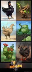 Chicken Fighters by OlgaDrebas