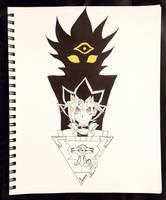 Inktober Day 19 - Yugi and Dark Yami from Yu-Gi-Oh by Serina67