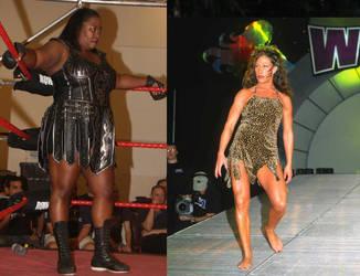 Awesome Kong vs Jungle Grrrl wrestling by WomenWrestlingLover