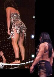 Jungle Grrrl and Chyna wrestling by WomenWrestlingLover