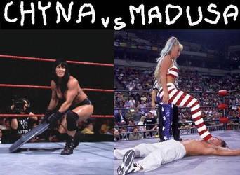 Madusa vs Chyna by WomenWrestlingLover