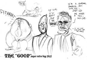 GOP frontrunners doodle by SuperRetroBoy