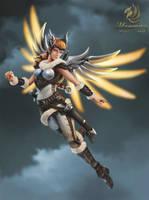Mercy Sigrun Overwatch by Magenixy