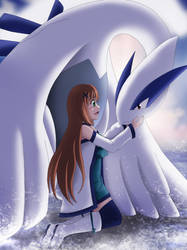 Haine and Lugia by Mindsebbandflow