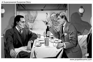 Hitchcock/Superhero Movies Mash-Up 4 by A-Muriel