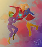 Brainy and Kara by LOSHComixfan