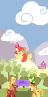 Flying Apple by FrogAndCog