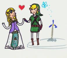 Link and Zelda TIME by da-dork