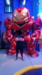 Me and Hulk-buster @ Funko HQ by Scarve1337