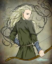 Warrior Prince Legolas by Neldorwen
